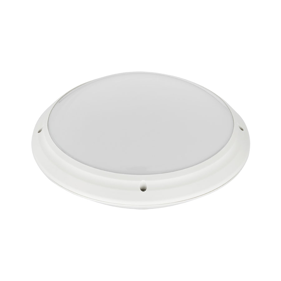 LED Lamp - Opbouw Rond - Waterdicht IP65 - E27 - Mat Wit Kunststof - �275mm