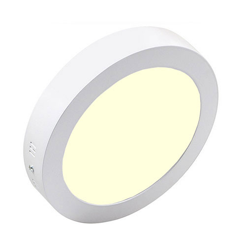 LED Downlight - Opbouw Rond 18W - Warm Wit 3000K - Mat Wit Aluminium - �225mm