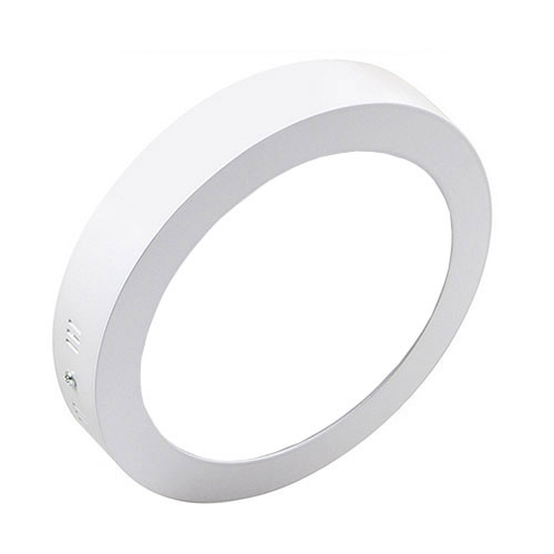 LED Downlight - Opbouw Rond 18W - Helder/Koud Wit 6000K - Mat Wit Aluminium - �225mm
