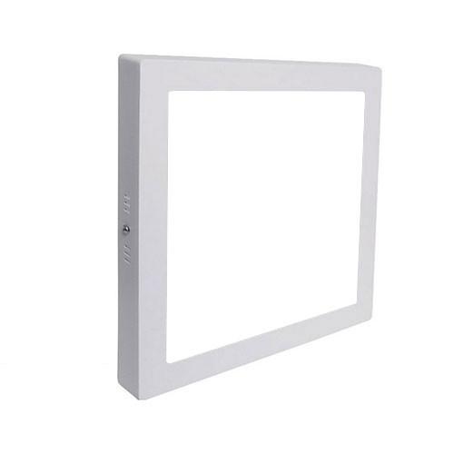 LED Spot - LED Downlight - LED Paneel Set BSE Slim Vierkant Opbouw 18W 6000K Helder/Koud Wit 225mm S