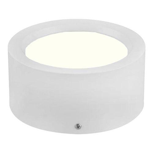 LED Spot - LED Downlight - LED Paneel Set BSE Slim Rond Opbouw Hoog Mat Wit 10W 4200K Natuurlijk Wit