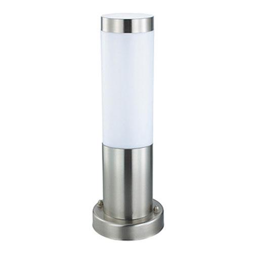 Tuinverlichting / Buitenverlichting / Buitenlamp / Vloerlamp / Staande Lamp Rond Mat Chroom 32.5x7.6cm Modern RVS/PC E27 IP44