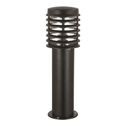 Tuinverlichting - Buitenverlichting - Buitenlamp - Vloerlamp - Staande Lamp Rond Mat Zwart 50x15cm M