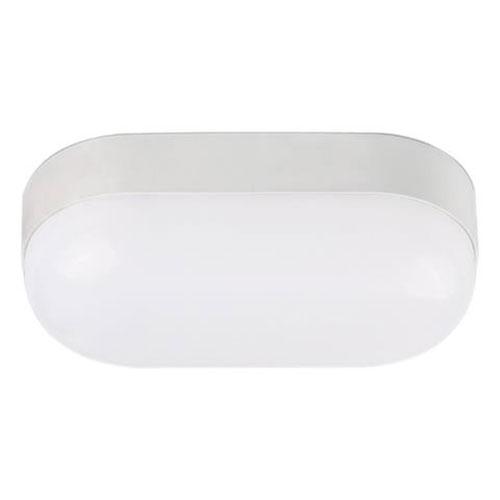 BSE LED Tuinverlichting - Buitenlamp - Stella 15 - Wand - Kunststof Mat Wit - 15W Natuurlijk Wit 4200K - Ovaal