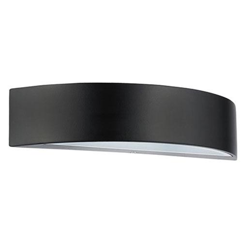 Tuinverlichting - Buitenverlichting - Buitenlamp - Wandlamp Ovaal Mat Zwart 5.5W 4100K Natuurlijk Wi