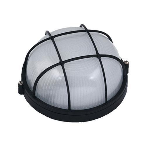 Tuinverlichting - Buitenverlichting - Buitenlamp - Wandlamp Rond Mat Zwart 17x8cm Modern Aluminium/G