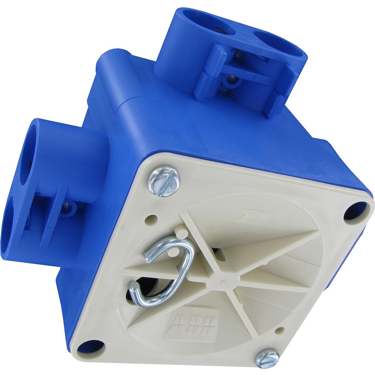 ABB - Centraaldoos - Hafobox - 55mm - 5/8inch - Incl. Deksel - Blauw
