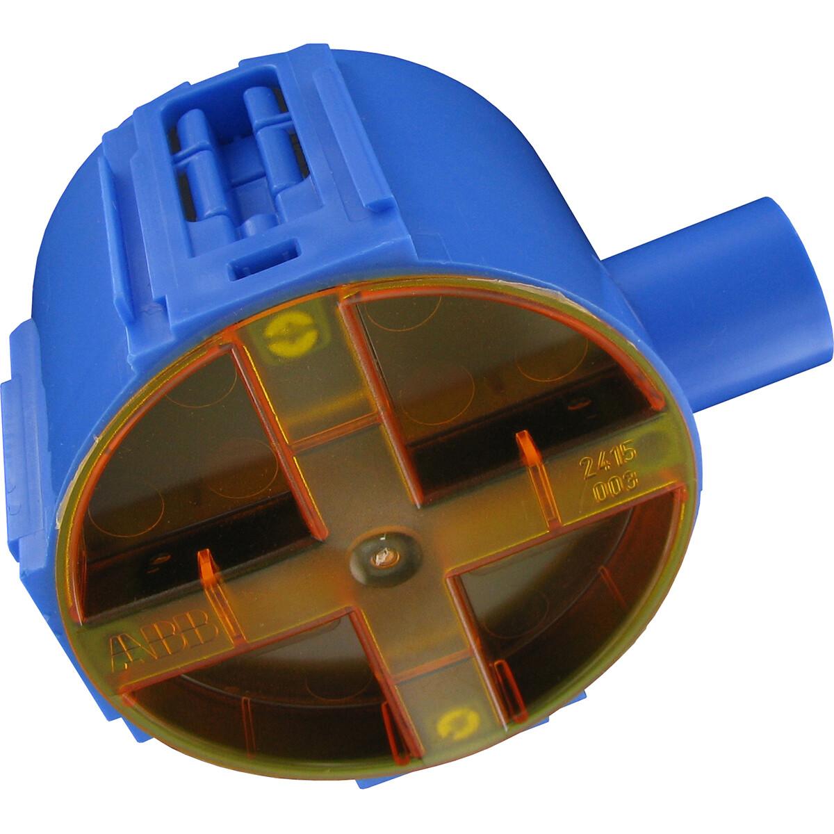 ABB - Inbouwdoos - Hafobox - 50mm - 5/8inch - Incl. Deksel - Blauw