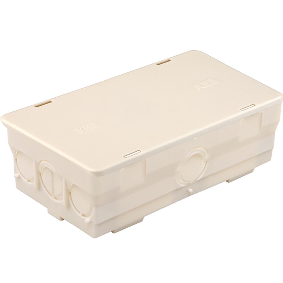 ABB - Lasdoos - Kabeldoos - Hafobox - Rechthoek - Opbouw - Incl. Deksel - 125x70x45mm - Wit