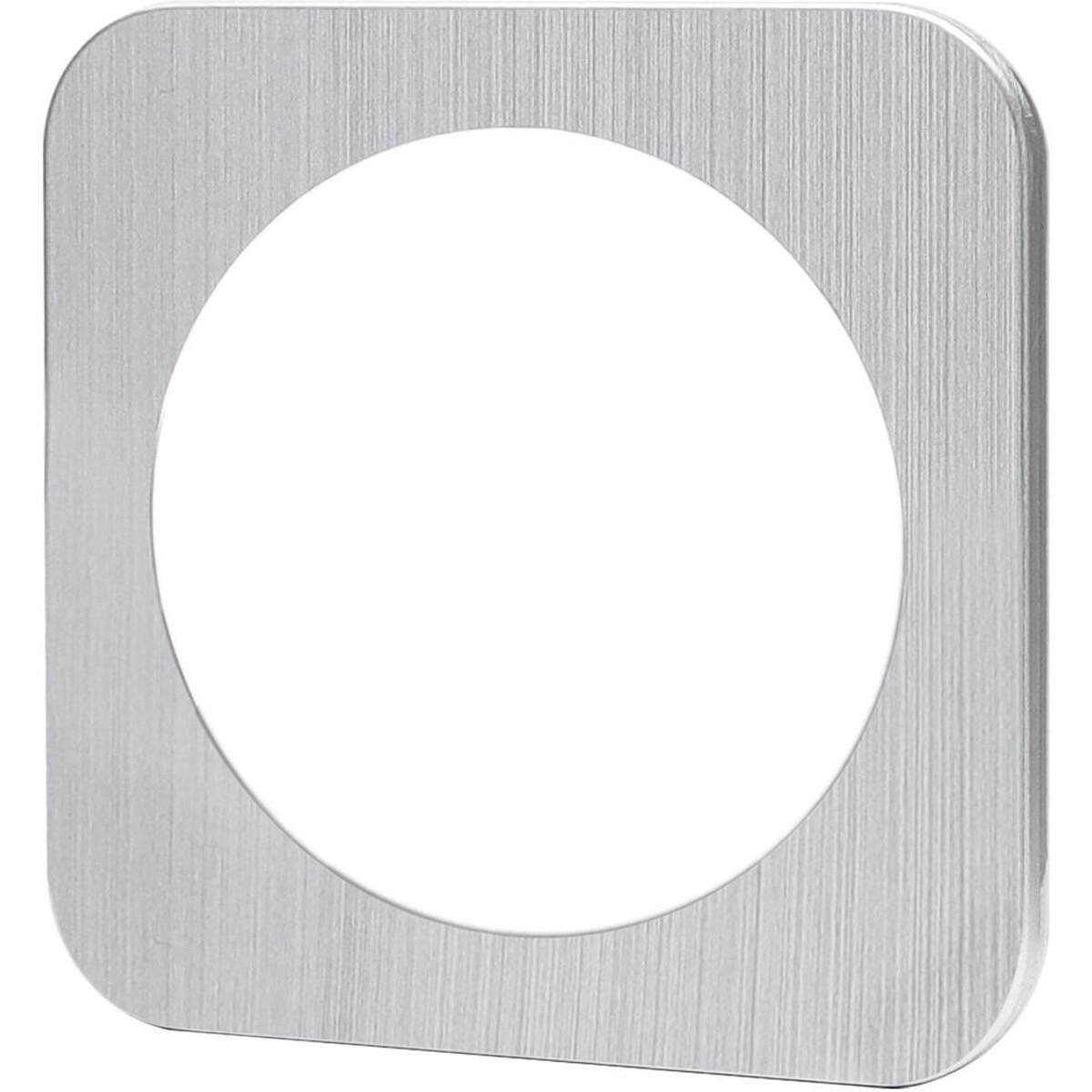 Afdekraam - Aigi Jura - 1-voudig - Rond - Aluminium - Zilver