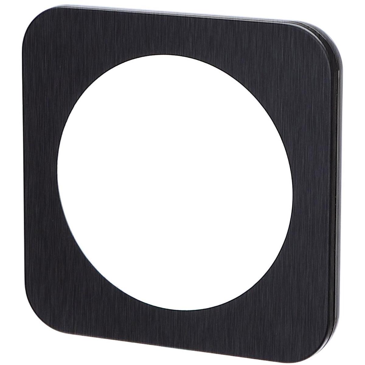 Afdekraam - Aigi Jura - 1-voudig - Rond - Aluminium - Zwart