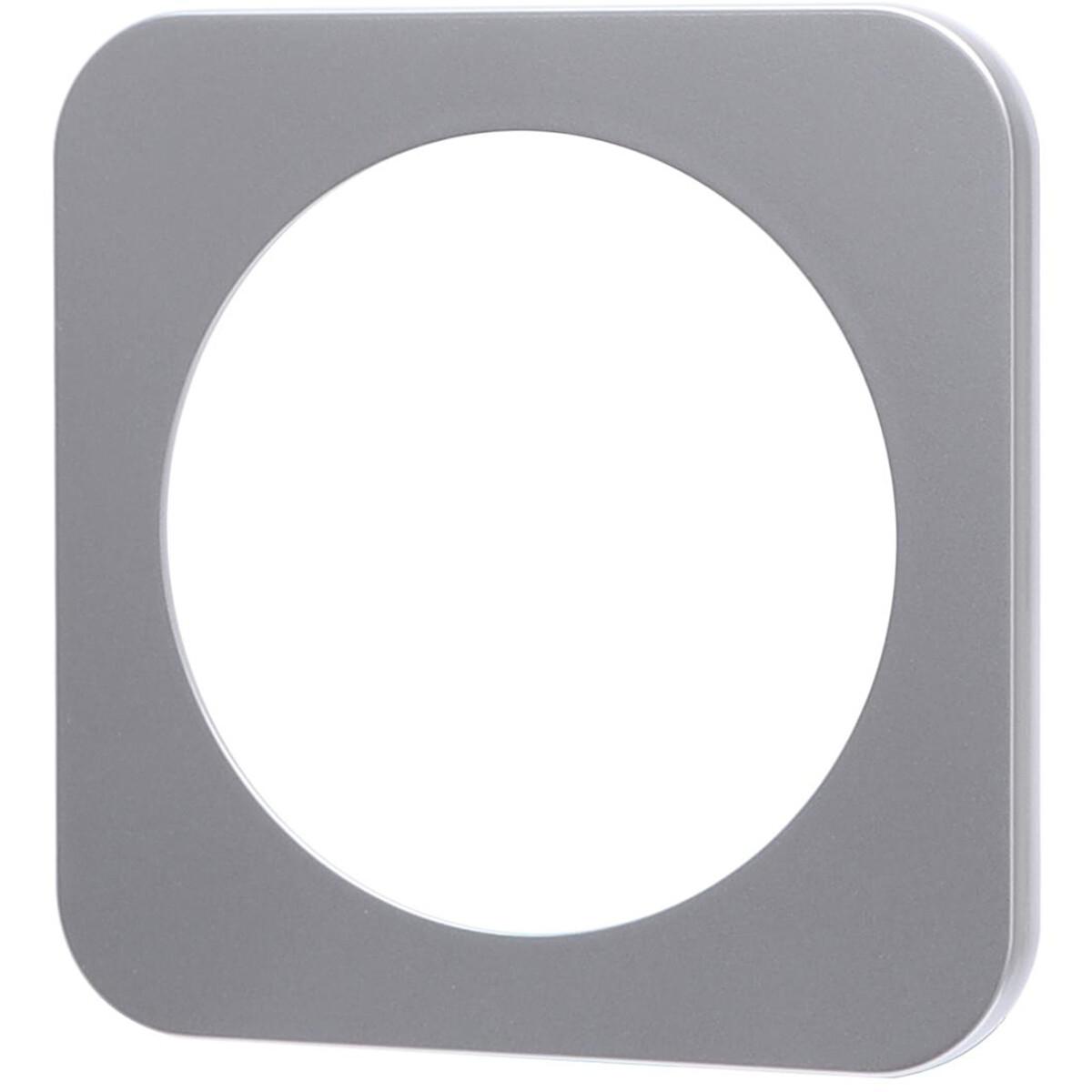 Afdekraam - Aigi Jura - 1-voudig - Rond - Kunststof - Zilver