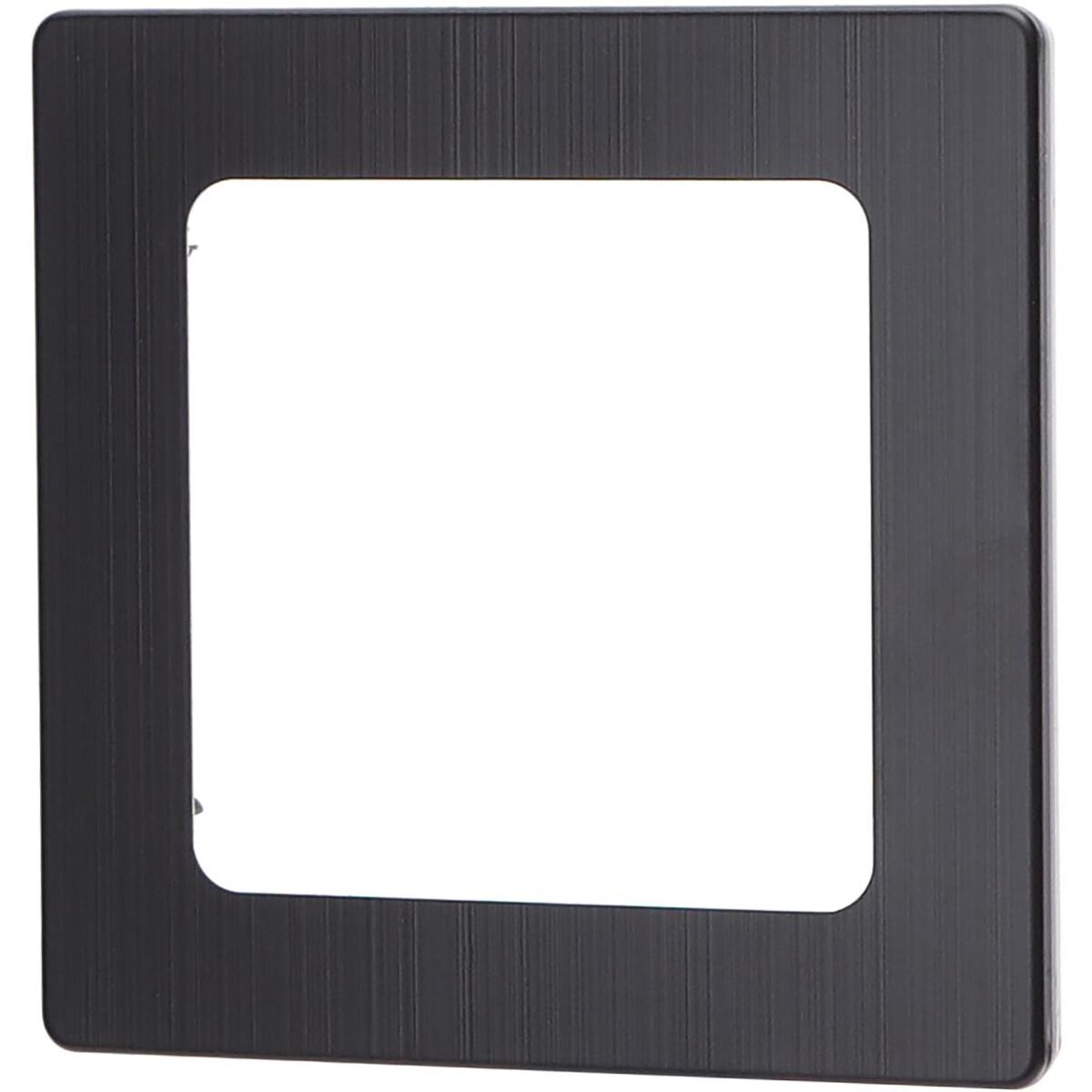 Afdekraam - Aigi Jura - 1-voudig - Vierkant - Aluminium - Zwart
