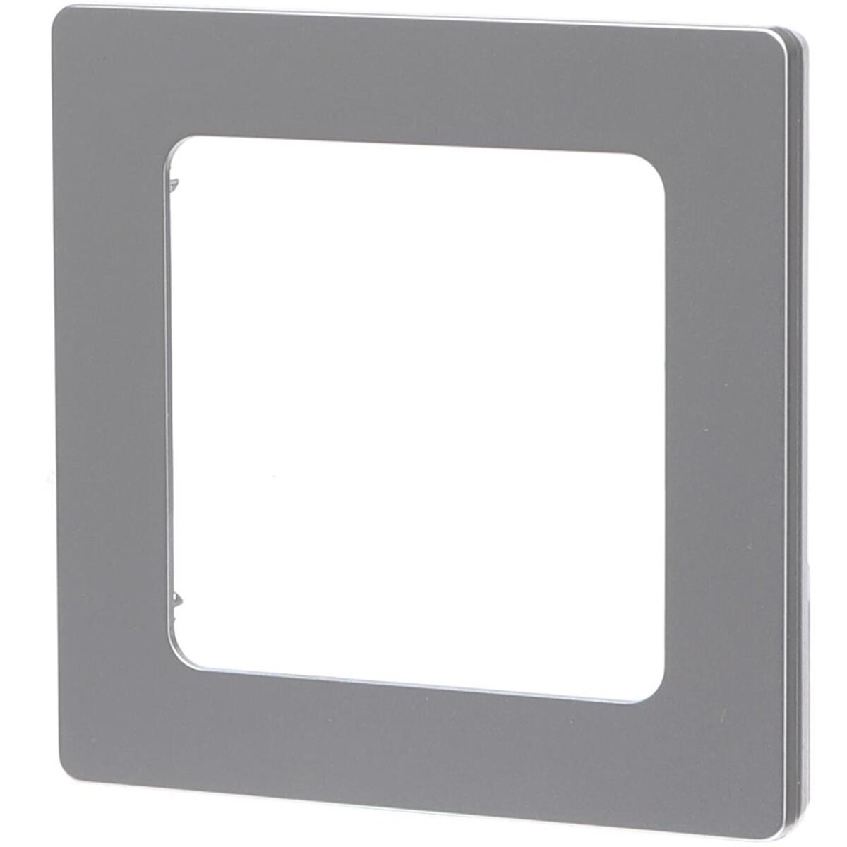 Afdekraam - Aigi Jura - 1-voudig - Vierkant - Kunststof - Zilver
