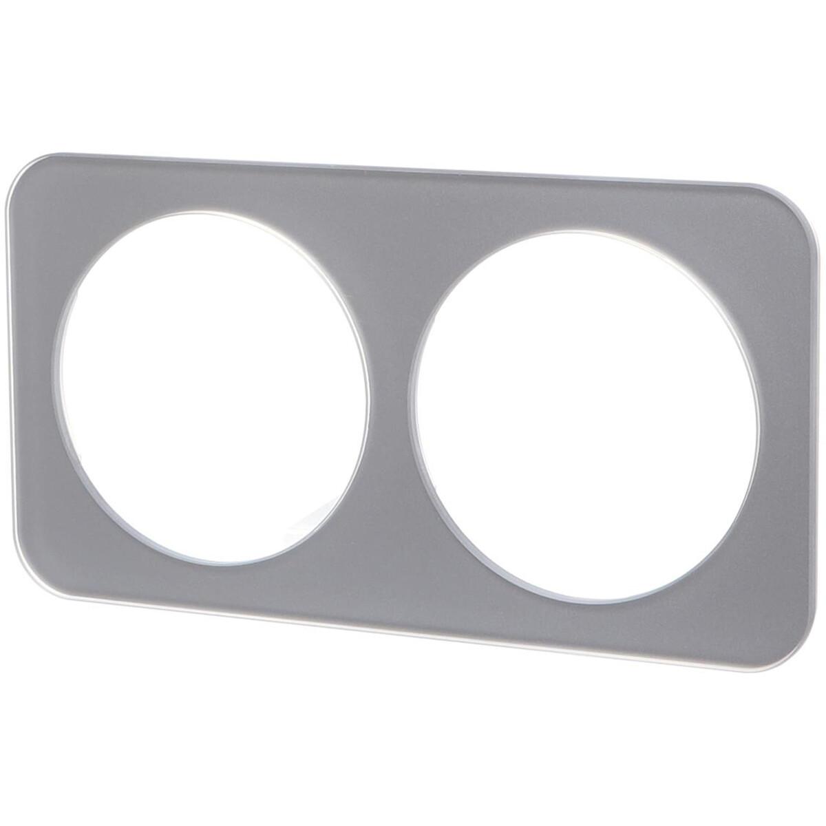Afdekraam - Aigi Jura - 2-voudig - Rond - Glas - Zilver