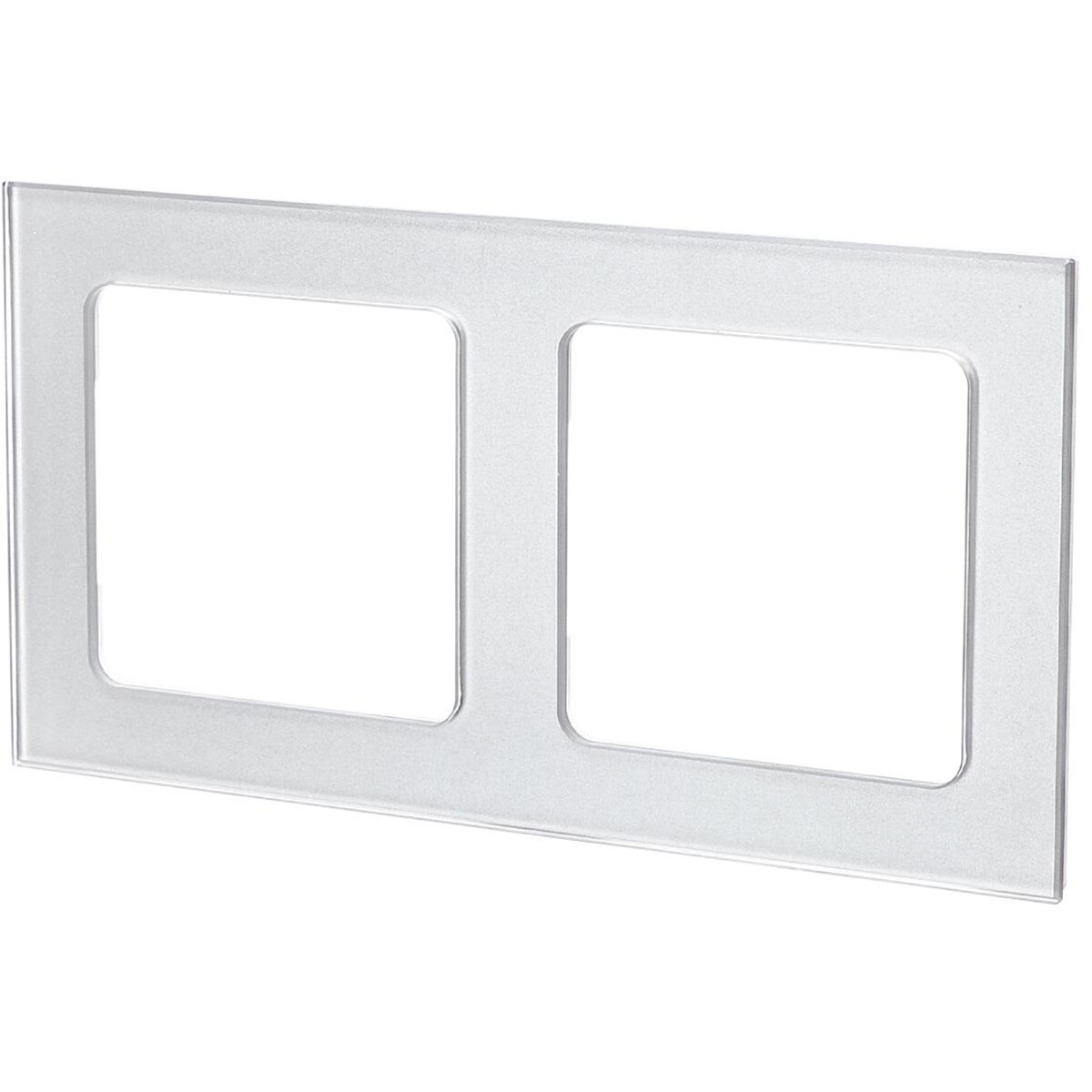 Afdekraam - Aigi Jura - 2-voudig - Vierkant - Glas - Zilver