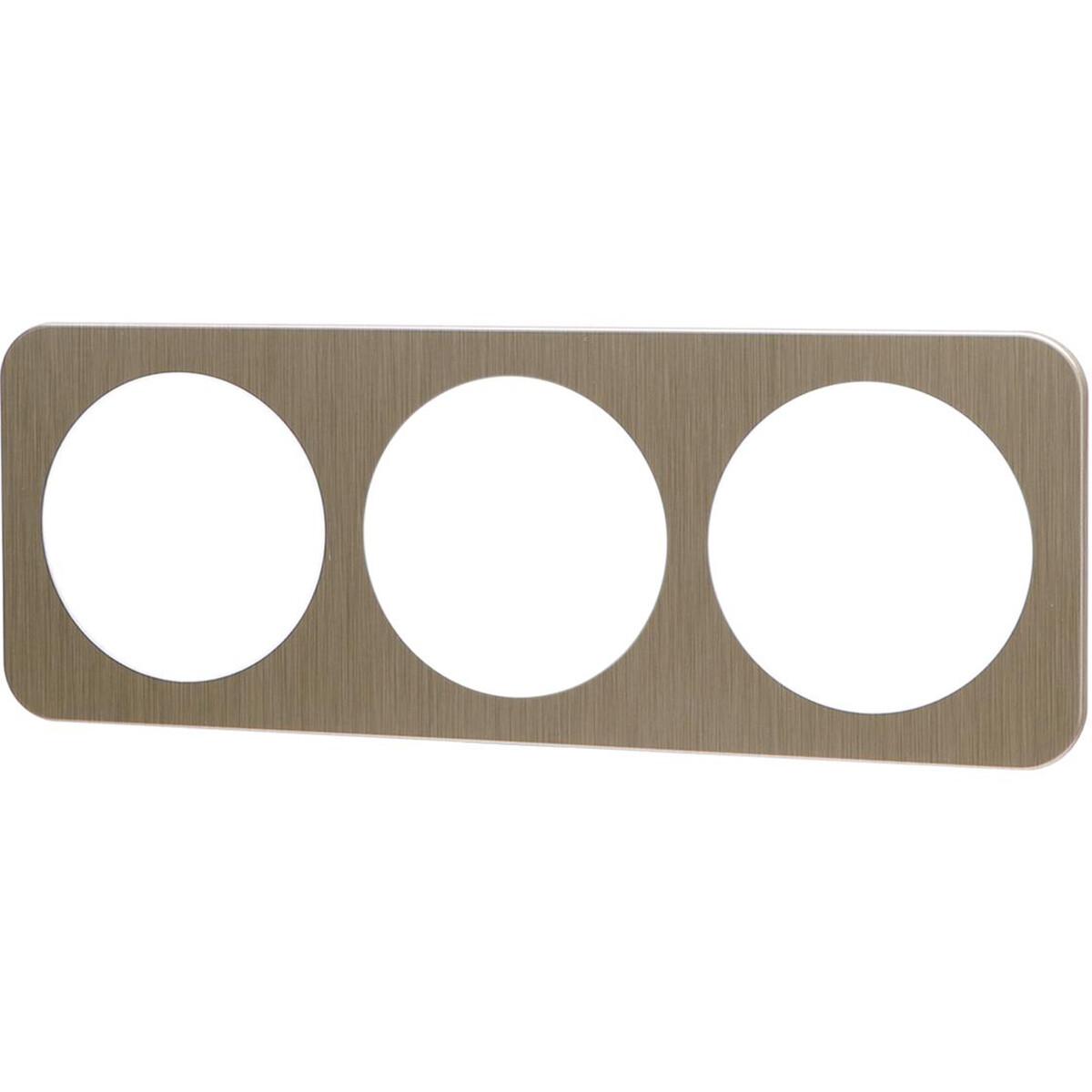 Afdekraam - Aigi Jura - 3-voudig - Rond - Aluminium - Goud