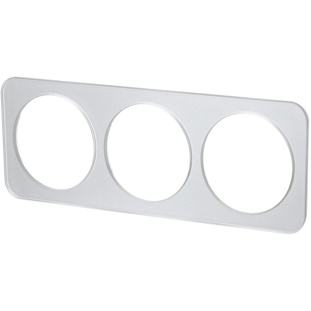 Afdekraam - Aigi Jura - 3-voudig - Rond - Glas - Zilver