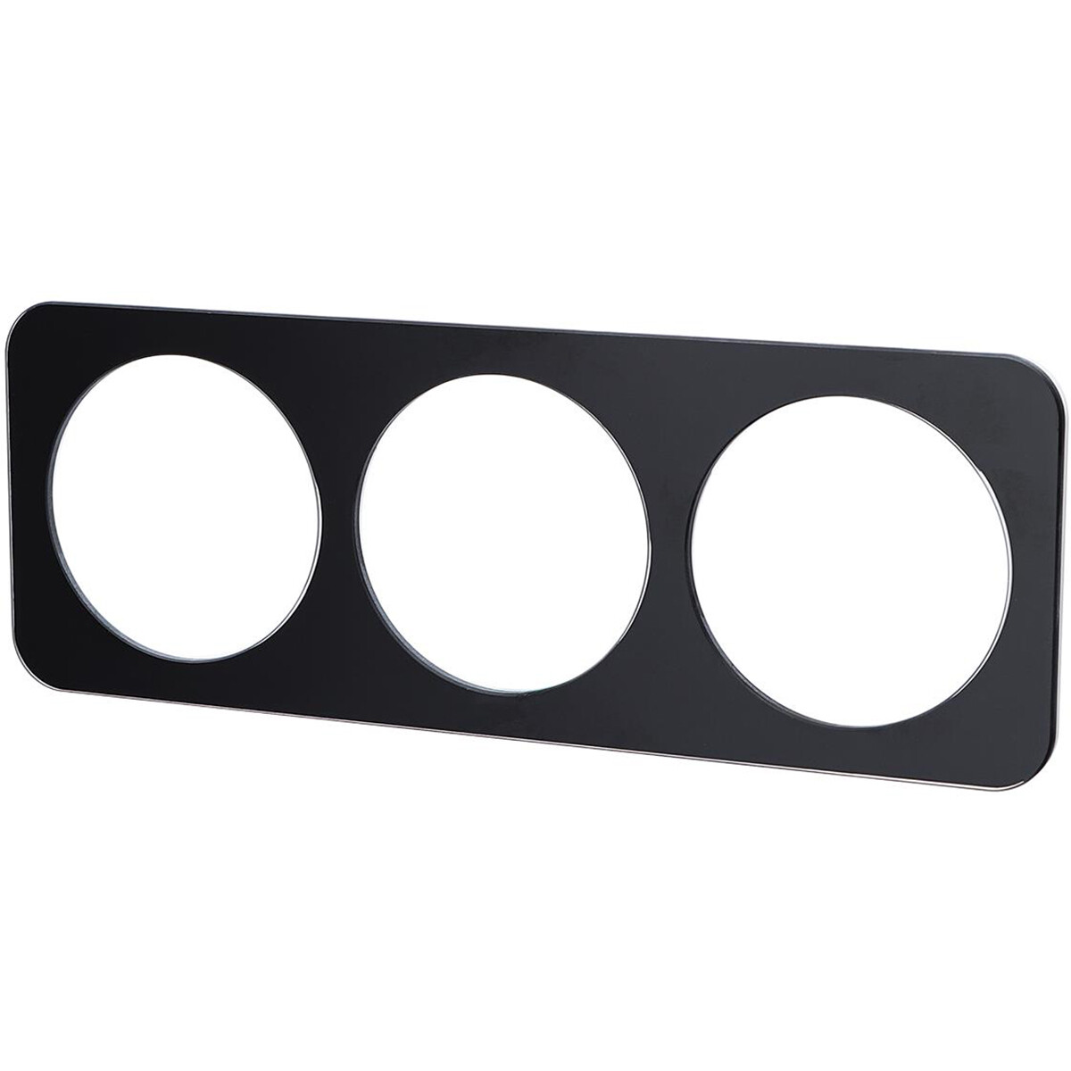 Afdekraam - Aigi Jura - 3-voudig - Rond - Glas - Zwart