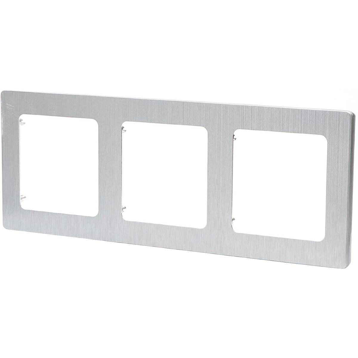 Afdekraam - Aigi Jura - 3-voudig - Vierkant - Aluminium - Zilver