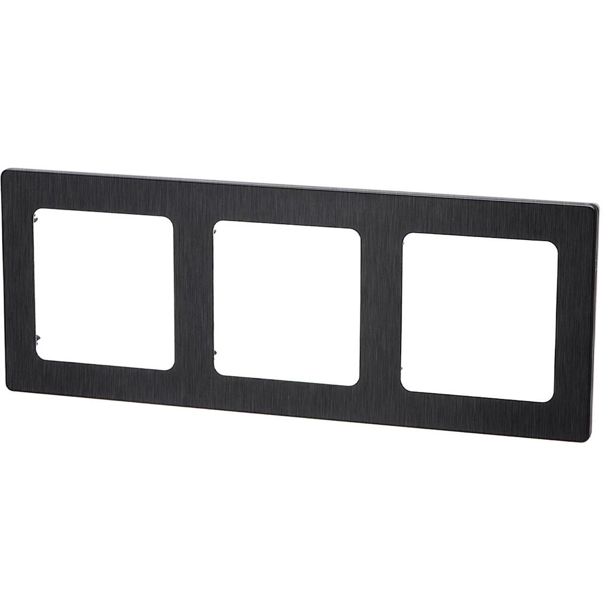 Afdekraam - Aigi Jura - 3-voudig - Vierkant - Aluminium - Zwart
