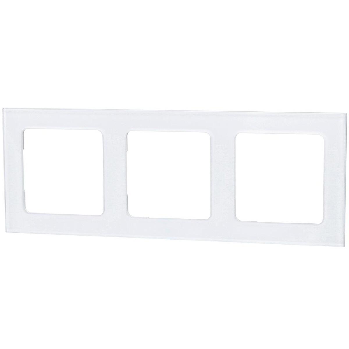Afdekraam - Aigi Jura - 3-voudig - Vierkant - Glas - Wit