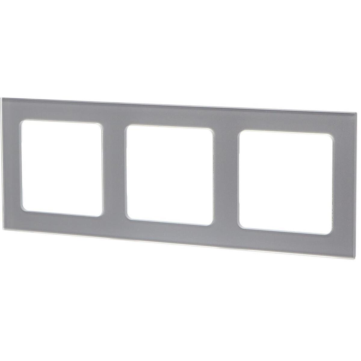 Afdekraam - Aigi Jura - 3-voudig - Vierkant - Glas - Zilver