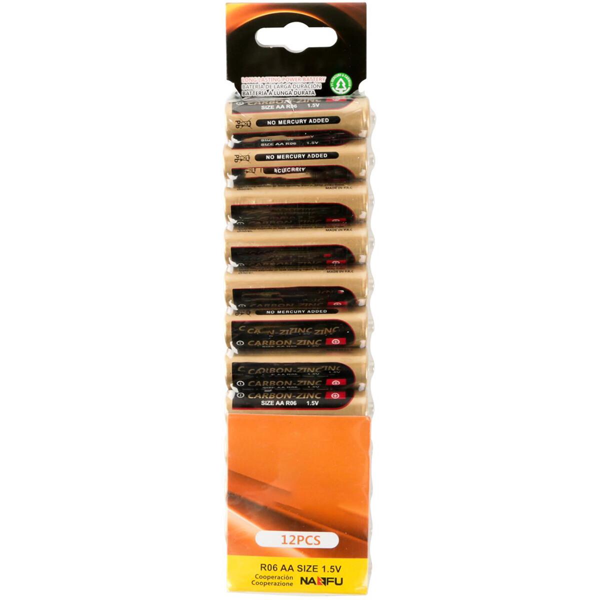 Batterij - Aigi Azo - AA/LR06 - 1.5V - Alkaline Batterijen - 12 Stuks