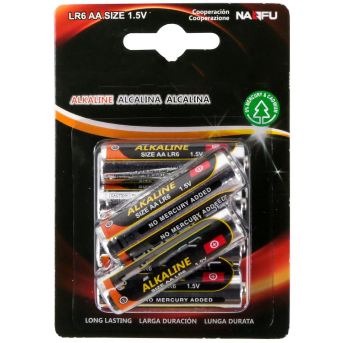 Batterij - Aigi Baty - AA/LR06 - 1.5V - Alkaline Batterijen - 6 Stuks