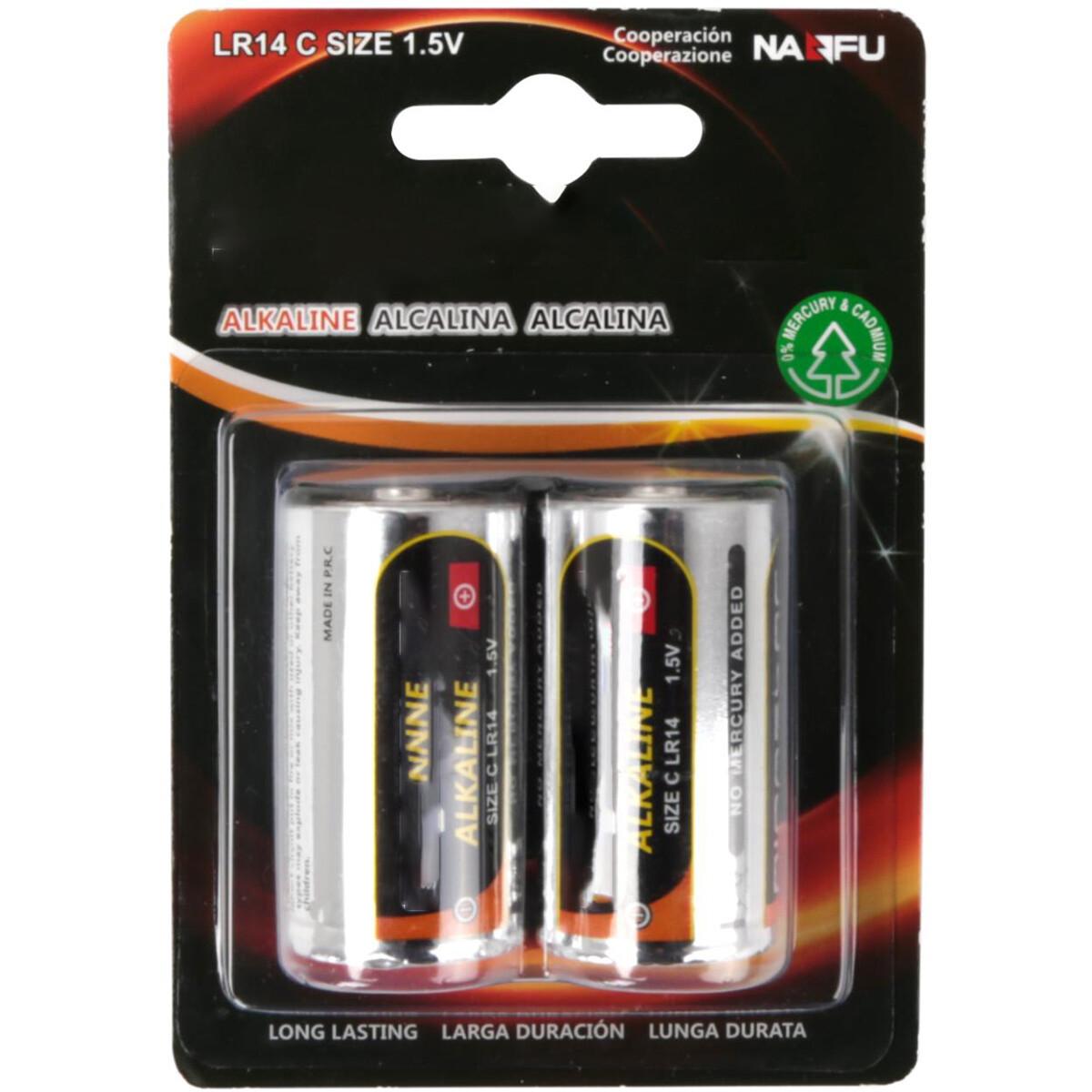 Batterij - Aigi Vino - LR14/C - 1.5V - Alkaline Batterijen - 2 Stuks