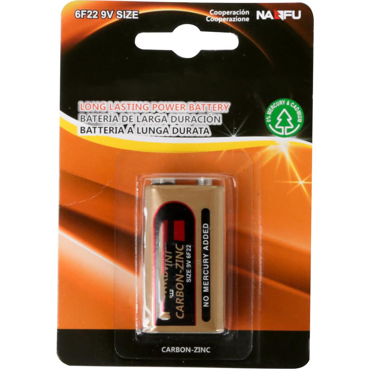 Blokbatterij - Aigi Sewi - 6F22 - 9V - Zinc Carbon Batterijen - 1 Stuk