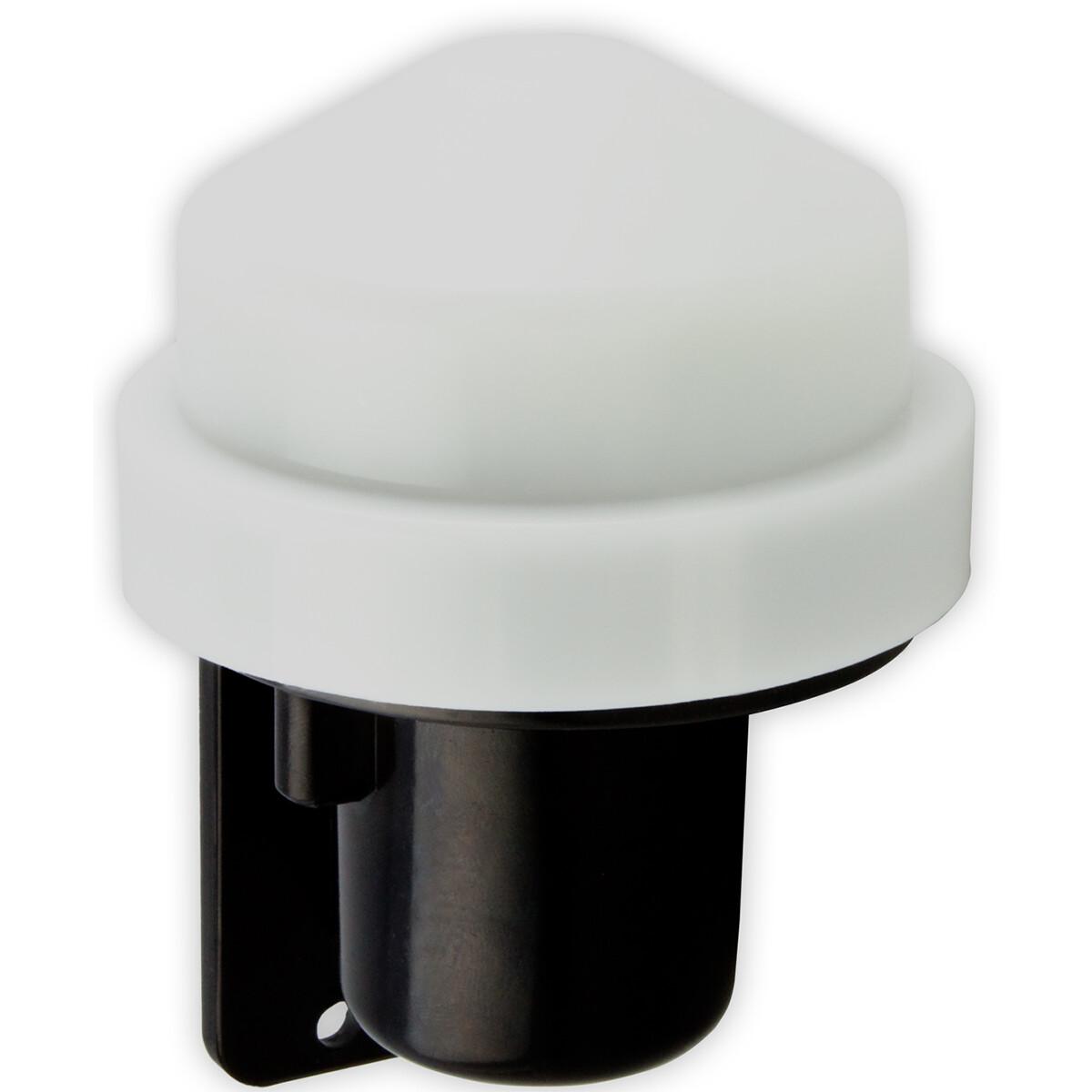 CALEX - Schemerschakelaar Lichtsensor - 1000W - Waterdicht - Rond - Zwart/Wit - Kunststof