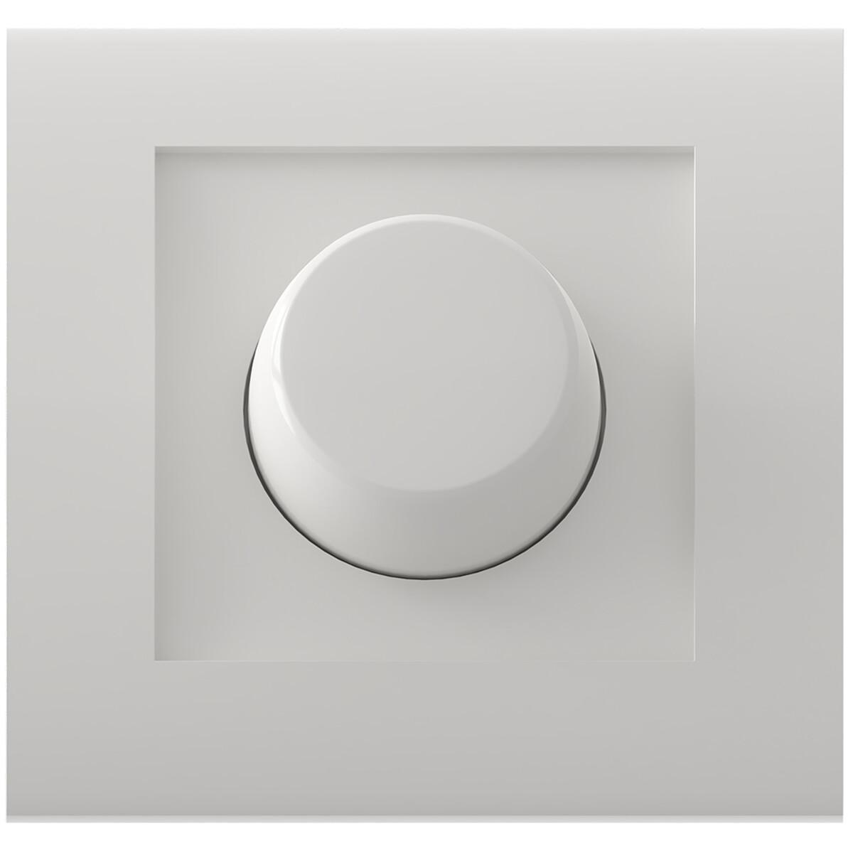 CALEX - LED Dimmer - Inbouwdimmer - Enkel Knop - 3-70W - Incl. Afdekraam - Wit