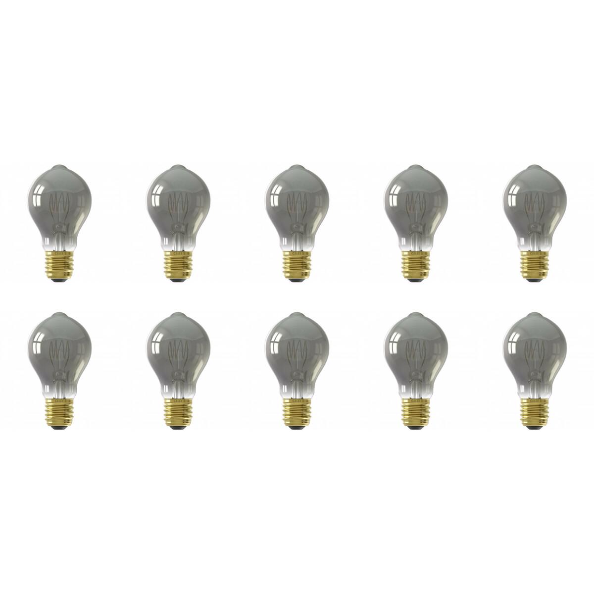 CALEX - LED Lamp 10 Pack - Filament A60 - E27 Fitting - Dimbaar - 4W - Warm Wit 2100K - Titanium