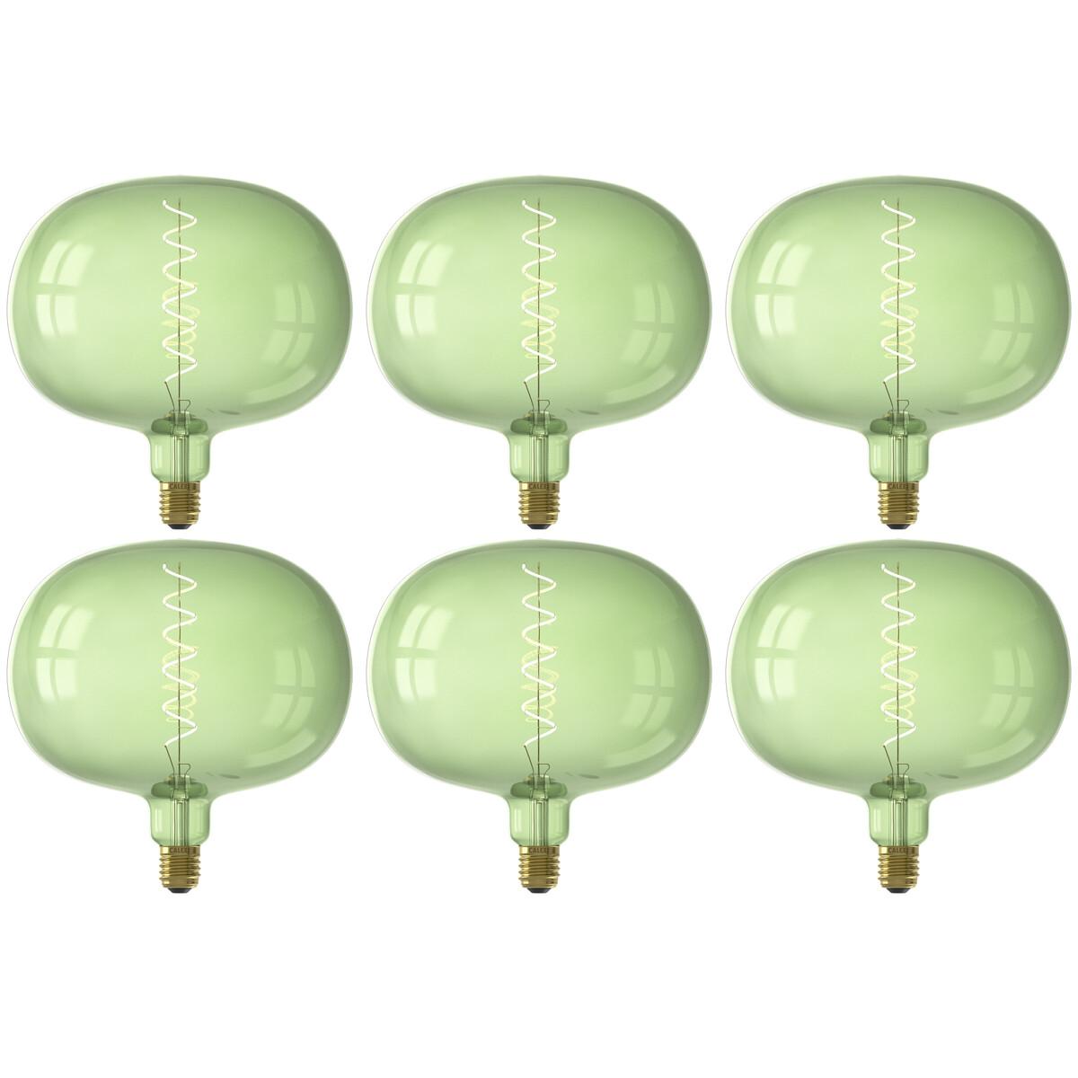 CALEX - LED Lamp 6 Pack - Boden Emerald - E27 Fitting - Dimbaar - 4W - Warm Wit 2200K - Groen