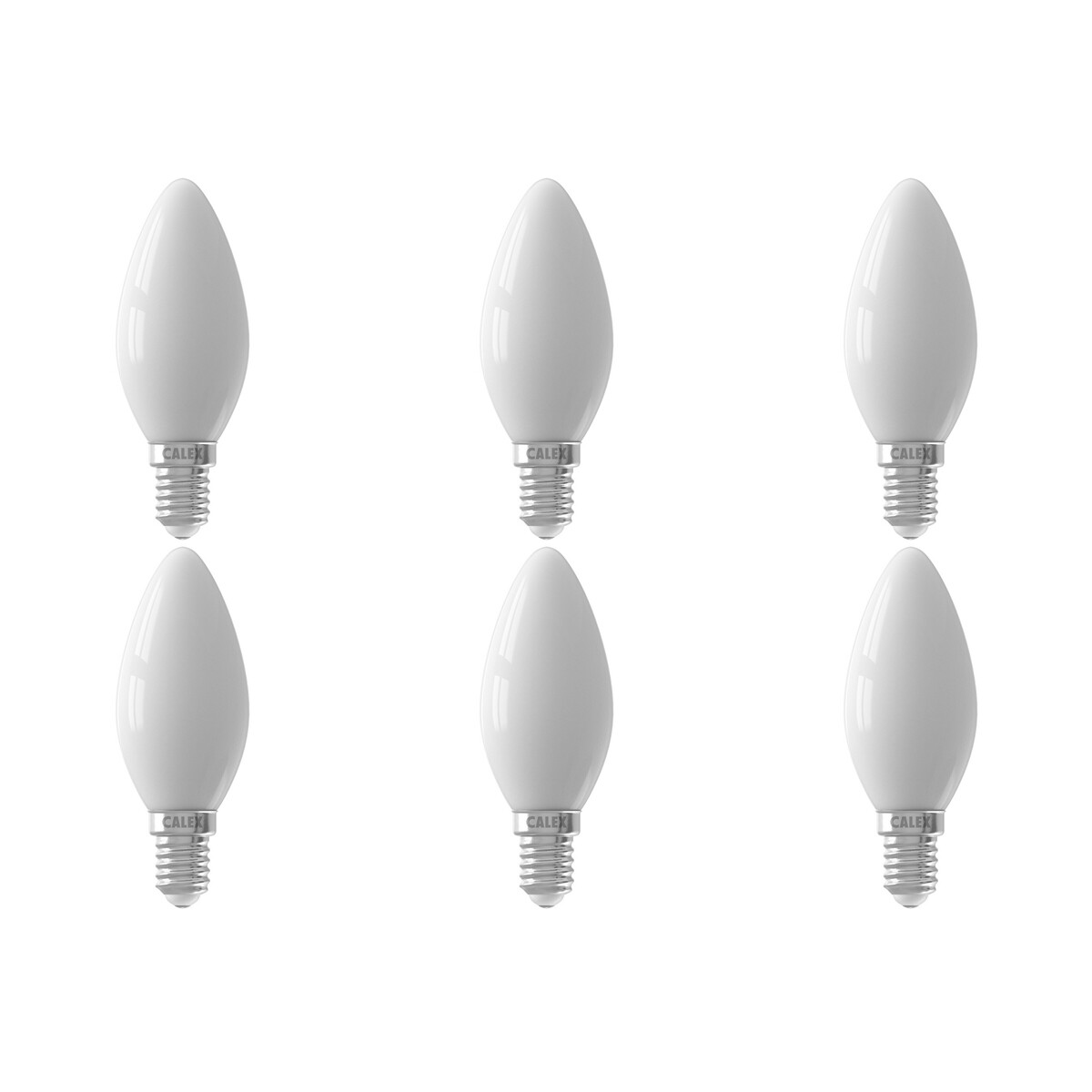 CALEX - LED Lamp 6 Pack - Filament B35 - E14 Fitting - 3W - Dimbaar - Warm Wit 2700K - Wit