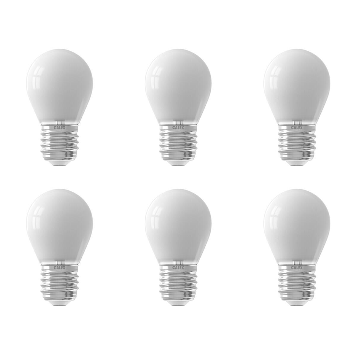 CALEX - LED Lamp 6 Pack - Kogellamp P45 Softline - E27 Fitting - Dimbaar - 3.5W - Warm Wit 2700K