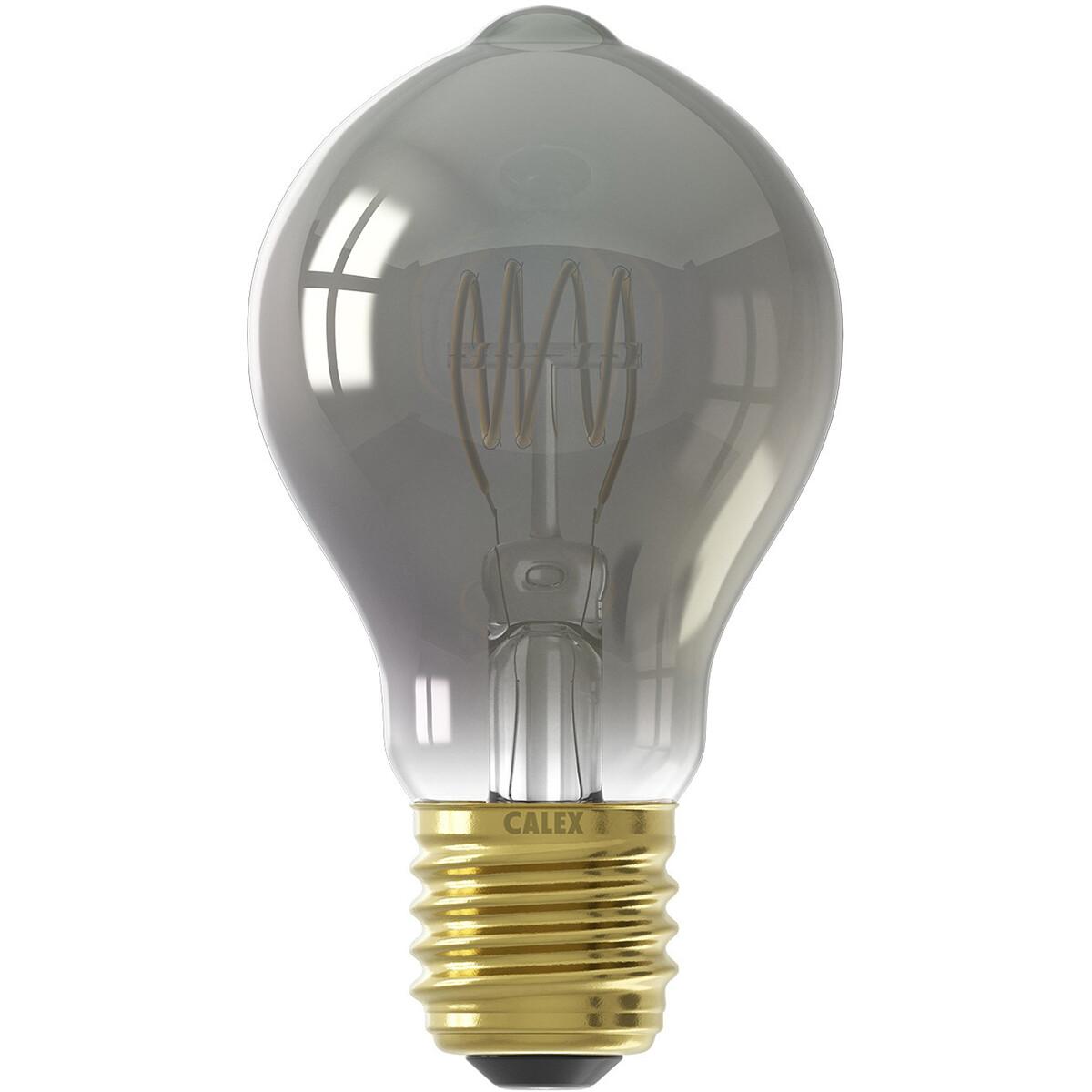 CALEX - LED Lamp - Filament A60 - E27 Fitting - Dimbaar - 4W - Warm Wit 2100K - Titanium