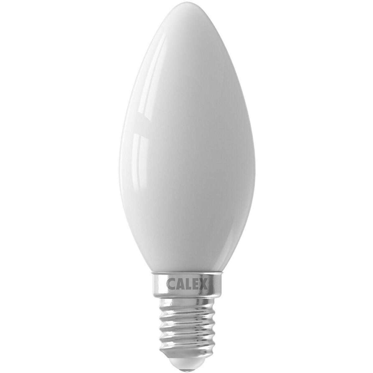 CALEX - LED Lamp - Kaarslamp B35 - E14 Fitting - 3W - Dimbaar - Warm Wit 2700K - Wit