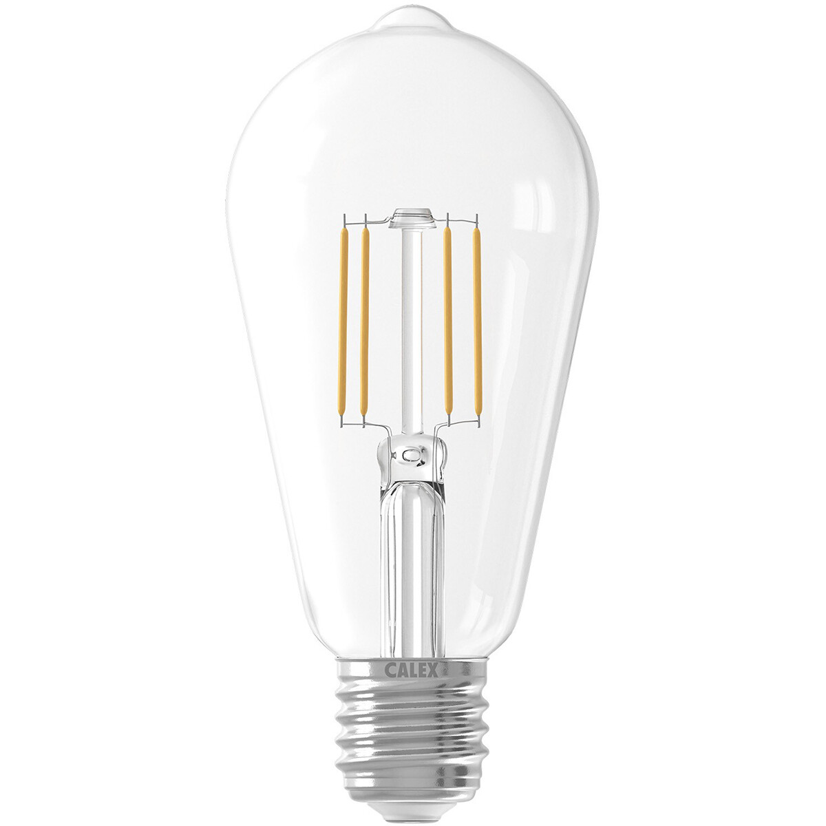 CALEX - LED Lamp - Filament ST64 - E27 Fitting - 6W - Warm Wit 2700K - Transparant Helder