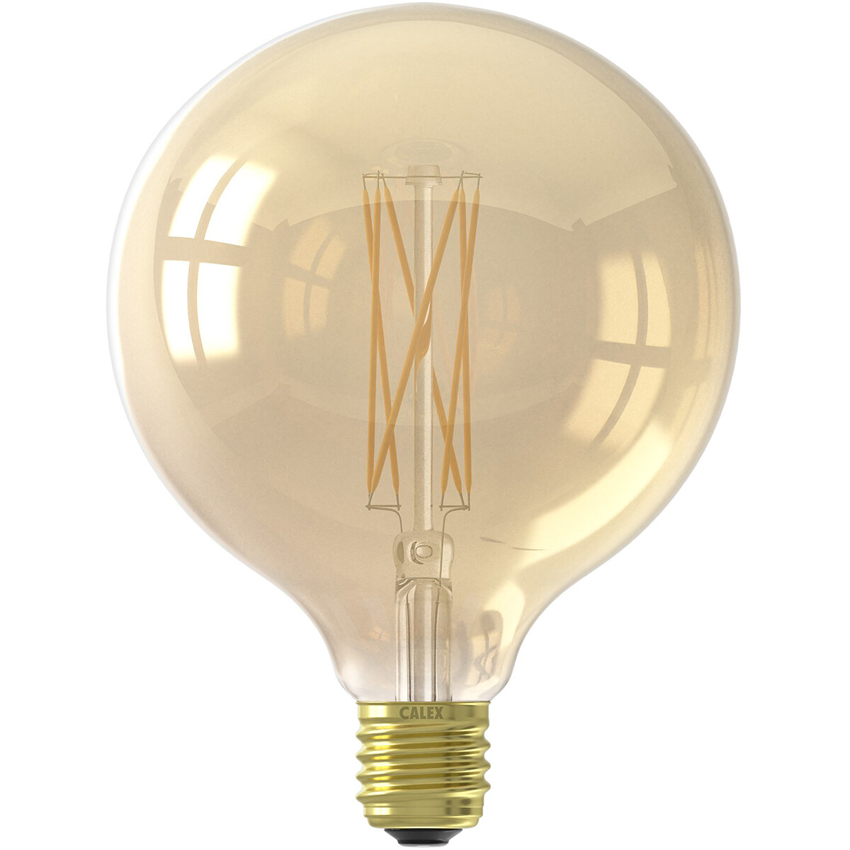 Globelamp LED filament goud 4W (vervangt 40W) grote fitting E27 125mm