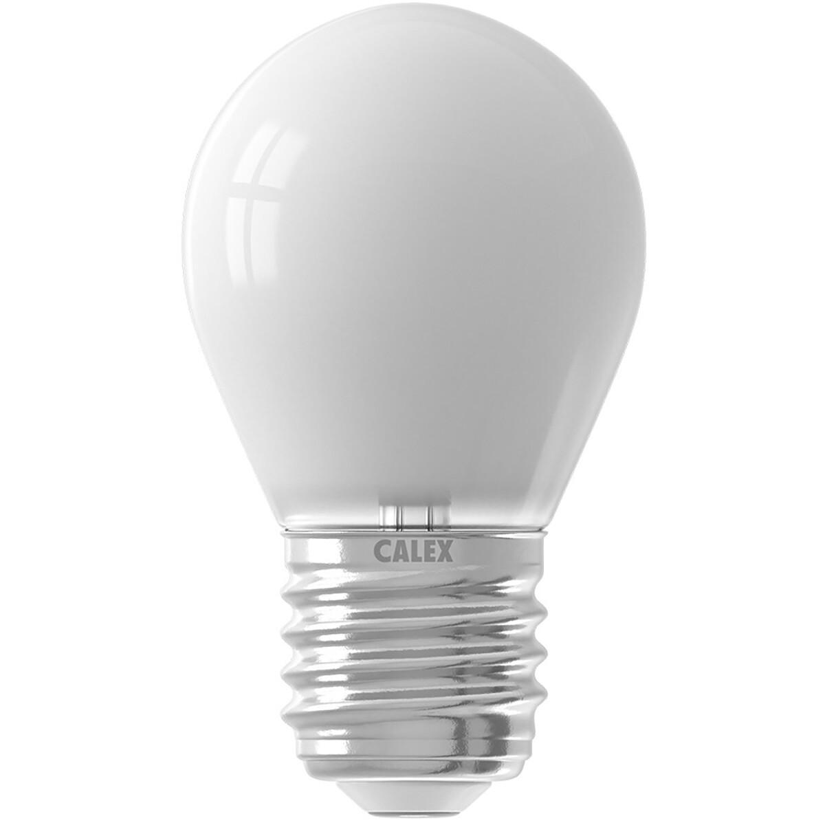 CALEX - LED Lamp - Kogellamp P45 Softline - E27 Fitting - Dimbaar - 3.5W - Warm Wit 2700K - Wit
