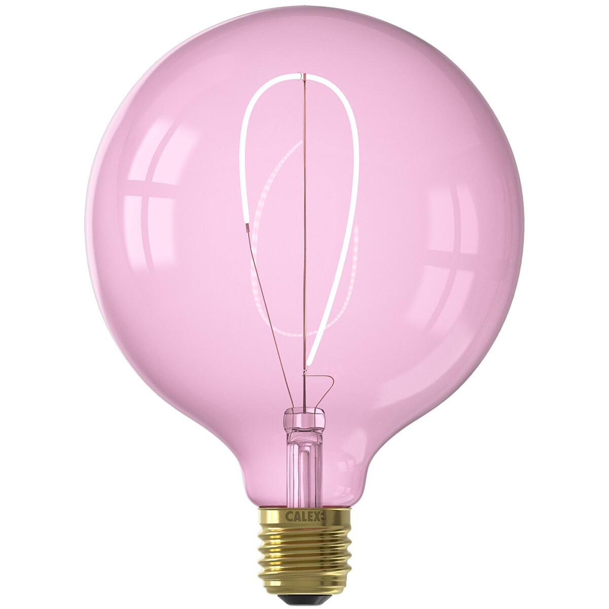 Calex NORA LED Globe G125 E27 4W roze dimbaar