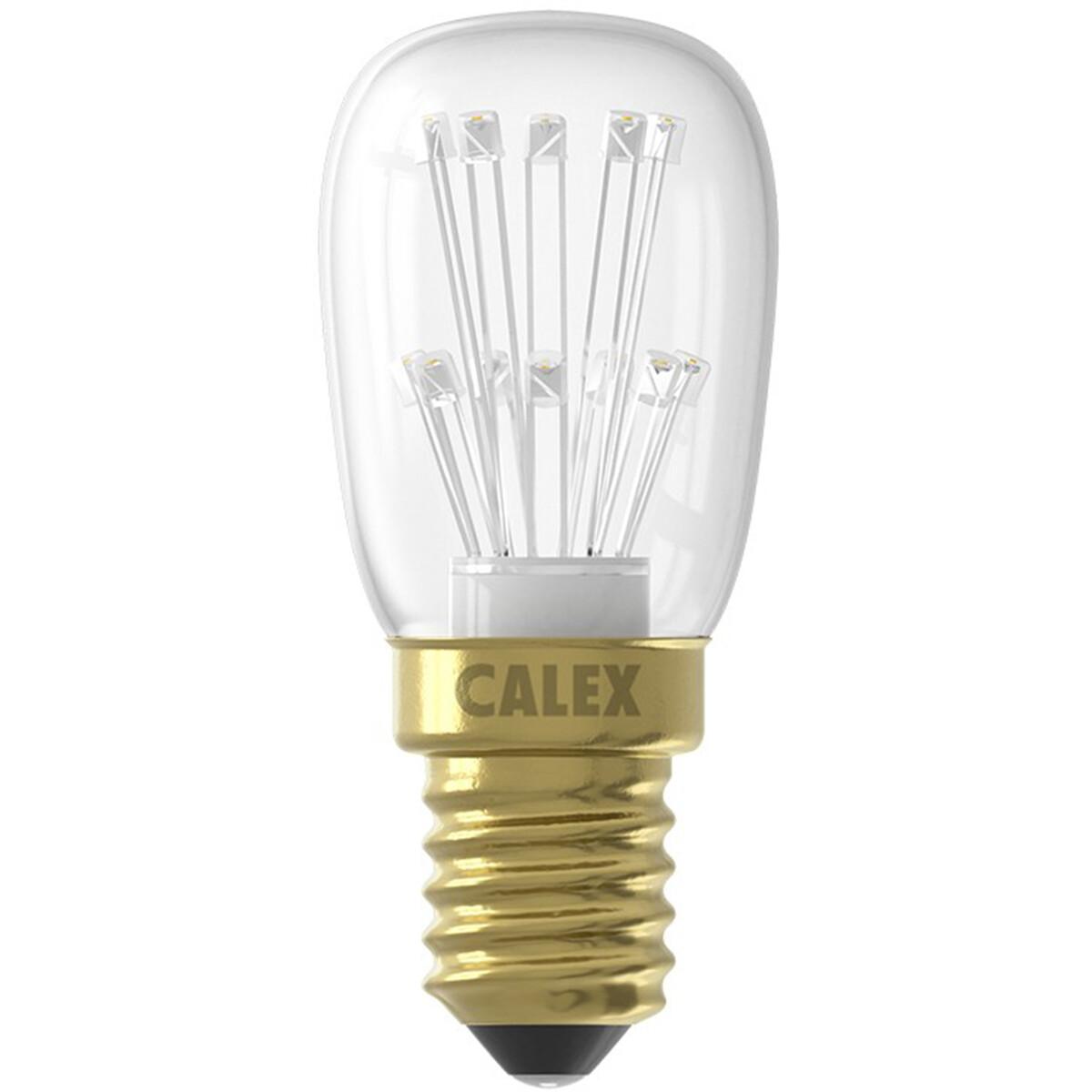 CALEX - LED Lamp - Schakelbord T26 - E14 Fitting - 1W - Warm Wit 2100K - Transparant Helder