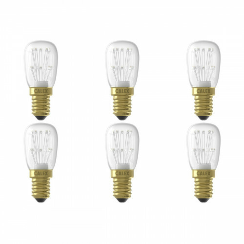 CALEX - LED Lamp 6 Pack - Schakelbord T26 - E14 Fitting - 1W - Warm Wit 2100K - Transparant Helder
