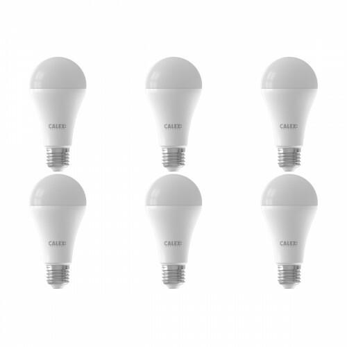 CALEX - LED Lamp 6 Pack - Smart A60 - E27 Fitting - Dimbaar - 14W - Aanpasbare Kleur CCT - Mat Wit