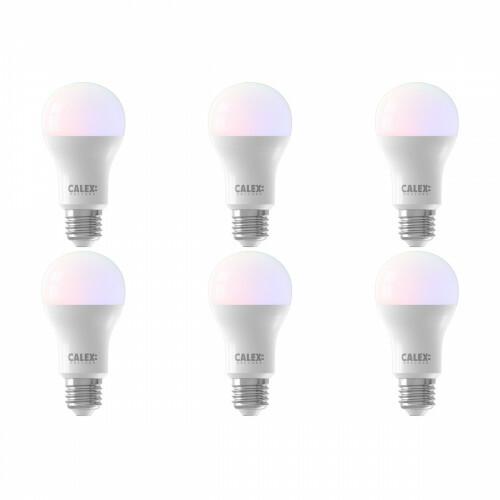 CALEX - LED Lamp 6 Pack - Smart A60 - E27 Fitting - Dimbaar - 8.5W - Aanpasbare Kleur CCT - Mat Wit