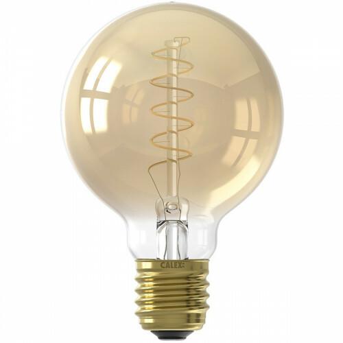 CALEX - LED Lamp - Globe - Filament G80 - E27 Fitting - Dimbaar - 4W - Warm Wit 2100K - Goud