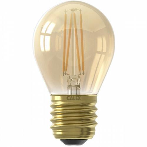 CALEX - LED Lamp - Kogellamp P45 - E27 Fitting - Dimbaar - 3.5W - Warm Wit 2100K - Goud