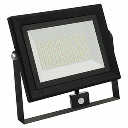 LED Bouwlamp 100 Watt met sensor - LED Schijnwerper - Pardus - Helder/Koud Wit 6400K - Waterdicht IP65